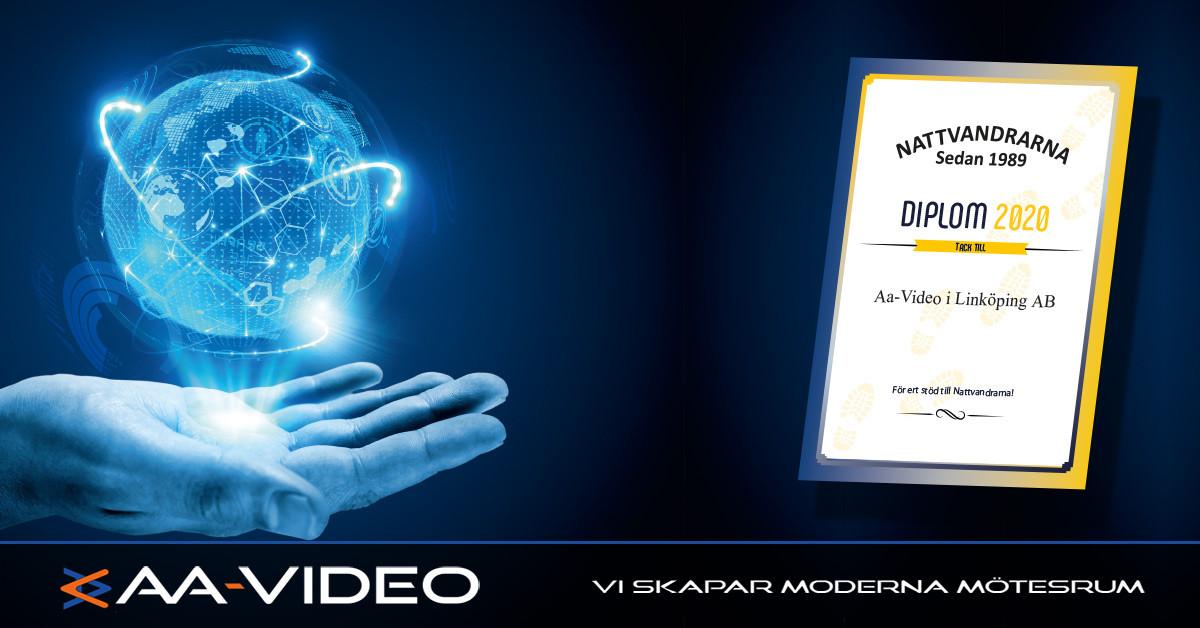 Nattvandrarna - Diplom till AA-Video