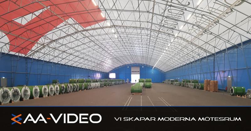 Invigning av jättetält | AA-Video fanns på plats