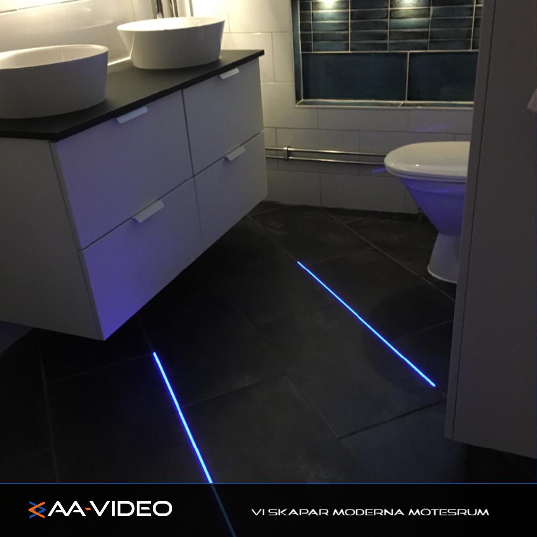 AA-VIDEO levererar belysning på udda platser