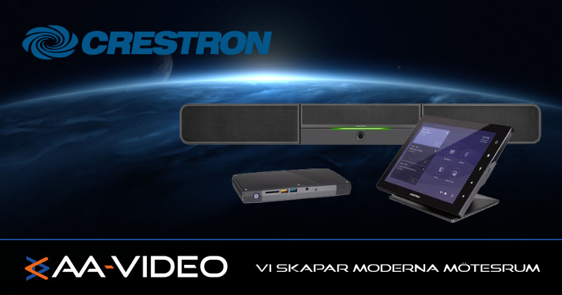 AA-Video med kunskap | Rumssystem med soundbar | Nytt från Creston