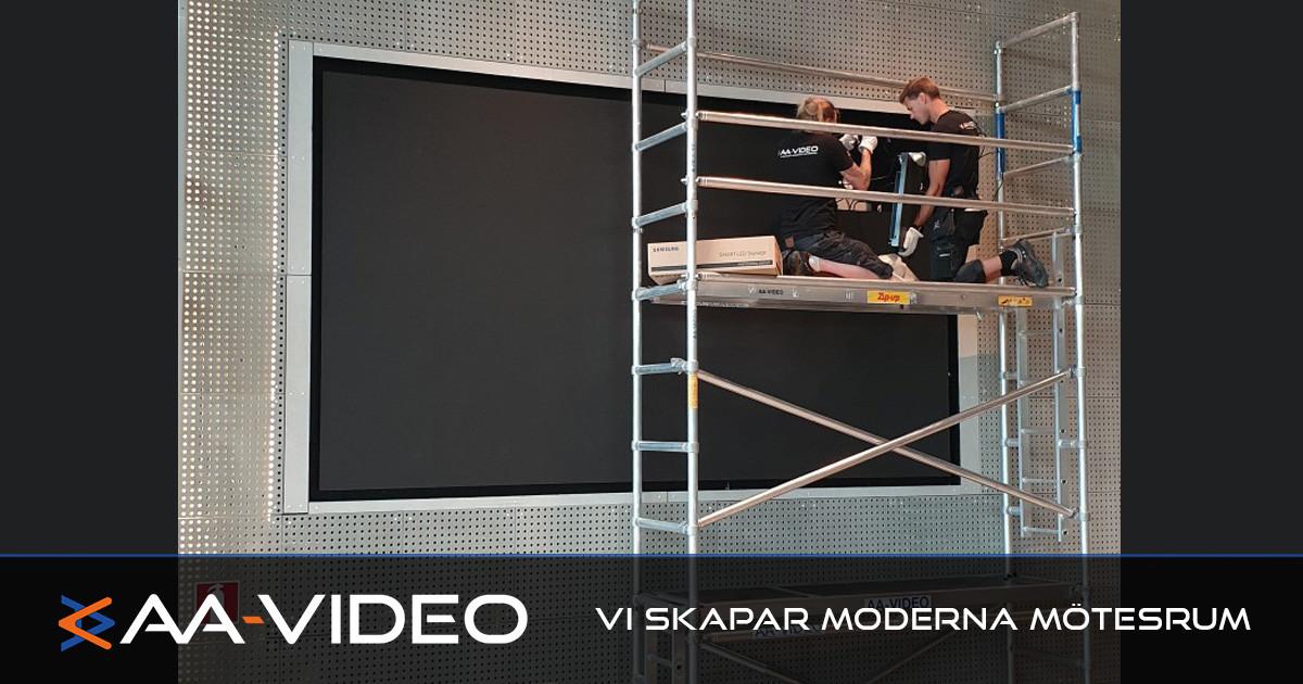 Studenthus Valla får Led-vägg genom AA-Video