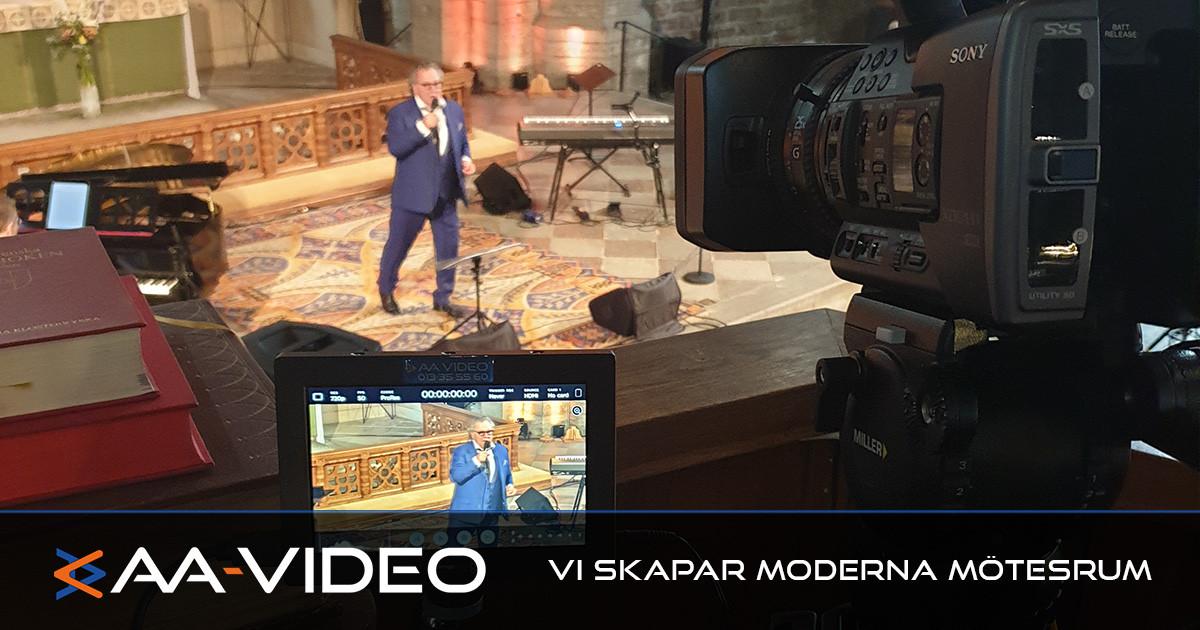 Vadstena klosterkyrka får hjälp med videoutrustning – AA-Video