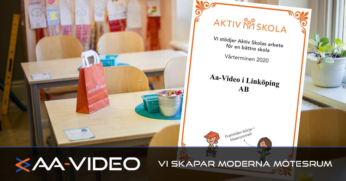 AA-Video fortsätter att stödja Stiftelsen Aktiv skola