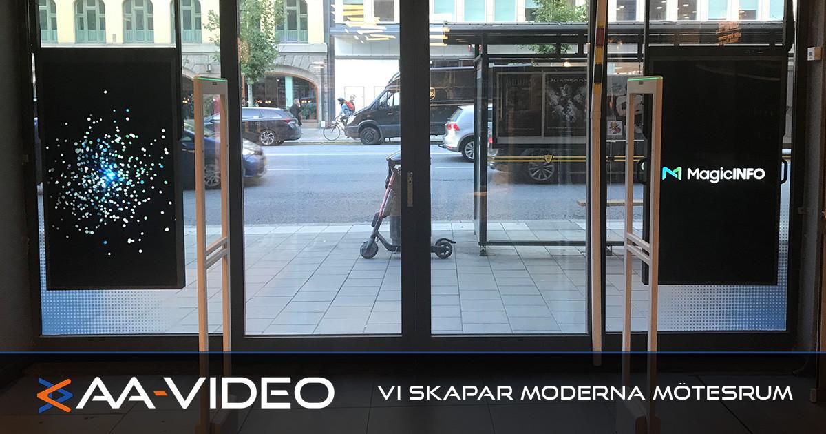 Webhallen på Sveavägen får proffshjälp av AA-Video